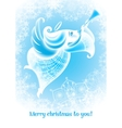 christmas angel flies plays the trumpet vector image vector image