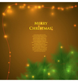 christmas card with spruce branches vector image vector image