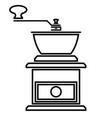 coffee grinder icon vector image vector image