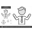 Confused businessman line icon vector image vector image