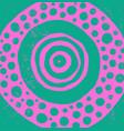 cosmic geometric mandala neon green and pink vector image vector image