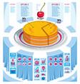 creative infographics elements piece pie idea vector image vector image