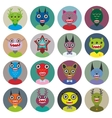 Cute cartoon Monsters Set Big collection on white vector image