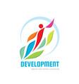 development - concept logo template vector image