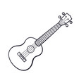 doodle small classical guitar vector image