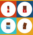 flat icon bitter set of chocolate bitter wrapper vector image vector image