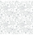 floral pattern based on embroidered flowers vector image vector image