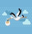 Flying stork delivery vector | Price: 3 Credits (USD $3)