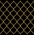 gold wire grid seamless pattern background on vector image vector image