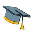 graduation hat cap vector image vector image