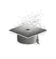 graduation hat or mortar board divergent vector image