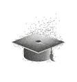 graduation hat or mortar board divergent vector image