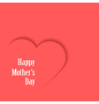 Happy Motherss Day Card with heart vector image vector image
