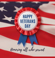 happy veterans day patriotic background vector image vector image