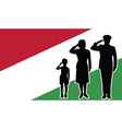 Hungary soldier family salute vector image vector image