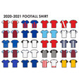 icon set soccer kit vector image vector image
