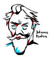 johannes brahms portrait vector image vector image