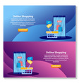 landing page template online shopping online vector image
