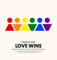 lgbt community poster design template background vector image vector image
