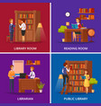 library concept flat vector image