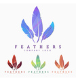 Logo design with bird feather Abstract polygonal vector image vector image