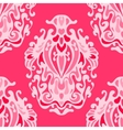 luxury pink damask seamless pattern vector image vector image