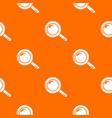magnifier pattern orange vector image vector image