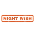 Night Wish Rubber Stamp vector image vector image
