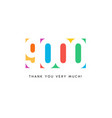 nine thousand subscribers baner colorful logo for vector image vector image