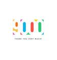 nine thousand subscribers baner colorful logo vector image vector image