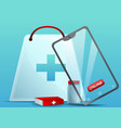 online pharmacy concept banner cartoon style vector image vector image