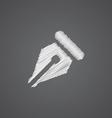 pen sketch logo doodle icon vector image vector image
