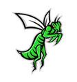 praying mantis mascot vector image vector image