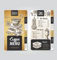 restaurant coffee menu design decorative sketch vector image