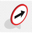 right road sign isometric icon vector image vector image