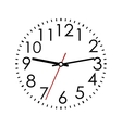 Round clock face with Arabic numerals vector image
