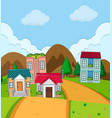 rural house village in nature vector image vector image