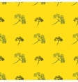 Seamless pattern with drawing dill or fennel vector image