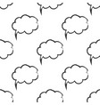 seamless pattern with speech bubbles welcome vector image vector image
