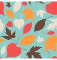 Seamless pattern with stylized silhouette leaves vector image vector image