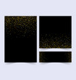 set black and gold banners greeting card or vector image vector image