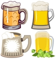 Set of beer mugs vector image