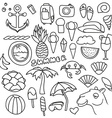 Set of isolated objects Background with summer vector image vector image