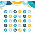 set simple icons octoberfest vector image