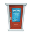 shop entrance door with opening hours vector image