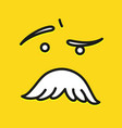 smile icon template design with mustache vector image vector image