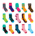 socks in cartoon style elements kids clothes vector image vector image