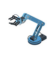 special isometric robotic arm vector image vector image