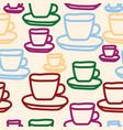 tea cups seamless pattern design vector image vector image