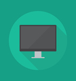 Technology Flat Icon Monitor vector image